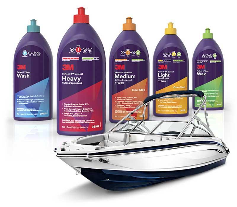 3M marine program za obnovo površin na čolnih in počitniških prikolic