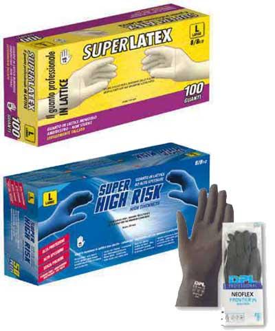 Zaščitne rokavice, lateks, neopren