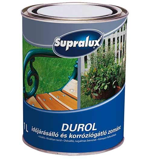 SUPRALUX DUROL - Antikorozijska emajl barva odporna proti vremenski vplivom.